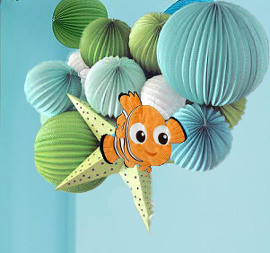 Homemade Finding Nemo Nursery Mobile for an Ocean Fish Theme Baby Room