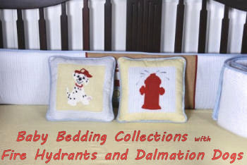 Red baby fire truck fireman engine dalmation nursery crib bedding set