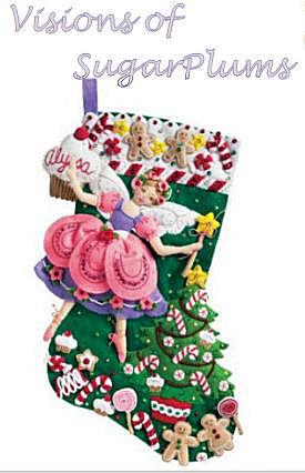 Sugarplum fairy baby first Christmas stocking kit