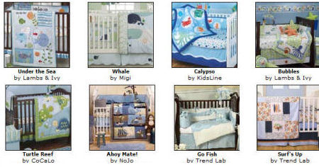 tropical ocean beach sea fish baby nursery crib bedding sets boy girl