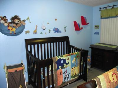 Safari Friend Nursery for Two Babies