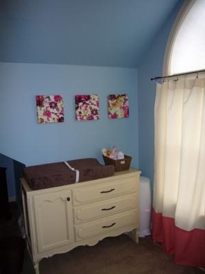 Our Baby Girl's Cozy Blooms Nursery w Floral Wall Decor