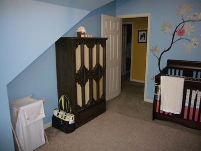 Nursery Decorations On Baby S Fl Decor W Blue Wall Paint Color
