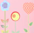 Flowers theme baby nursery wall flower stencil pattern template
