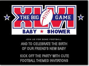 Football baby shower theme invitations idea