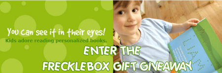 frecklebox personalized kids baby gift giveaway prize contest