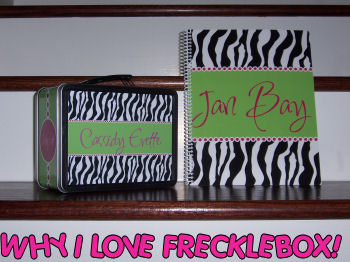 hot pink zebra print lime green personalized girls lunchbox