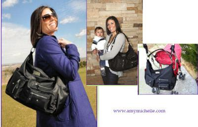 The Amy Michelle Lotus diaper bag is SO beautiful and functional!