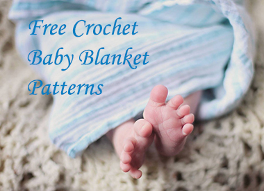 Free crochet baby blanket patterns instructions.  Hooded crochet baby blanket pattern.