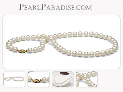 freshwater pearl necklace 14kt gold clasp