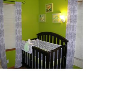 Elegant Black and White French Country Baby Nursery