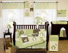 green yellow unisex girls frog baby nursery crib bedding set mobile sheets