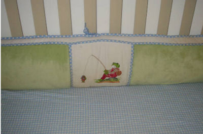 Fly Fishing Kelly Rightsell Frog Themed Baby Bed Bumper Pad