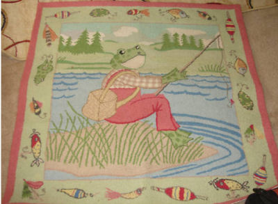 Fly Fishing Kelly Rightsell Frog Themed Nursery Rug