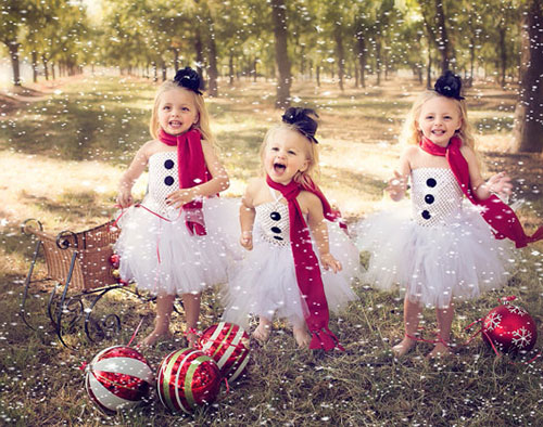 Baby girl Frosty the Snowman holiday Christmas tutu dress outfit