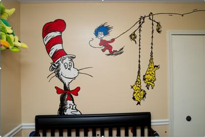Fun and Vibrant Dr. Seuss Nursery Wall Art