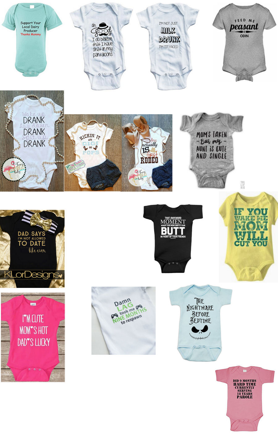 Baby Clothes Daddy Slogans