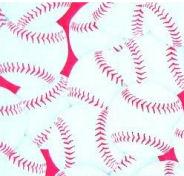 hot pink girls baseball softball cotton flannel quilt fabric