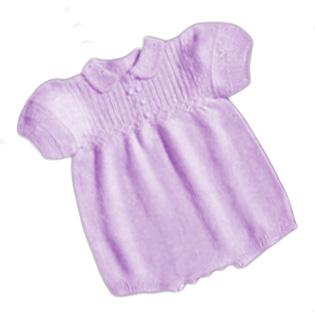 Free knit baby girl romper knitting pattern.  Knitted baby romper pattern for a girl.
