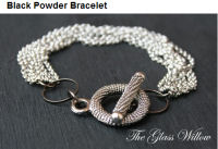 gun powder silver toggle bracelet