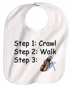 golf baby stuff apparel bibs onesies slippers first golf clubs gifts