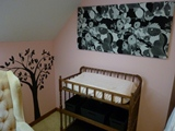 Pink and Black Baby Girl Nursery Wall Ideas