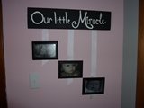 My nursery craft project made with leftover scrap wood