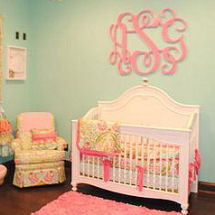 Sweet Green and Pink Baby Girl Nursery Room