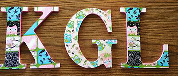 Custom made hand painted owl theme baby nursery wall decor initial letters