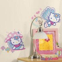 Hello Kitty butterfly theme baby nursery wall decals and stickers