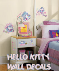 hello kitty baby nursery wall vinyl reusable decals stickers