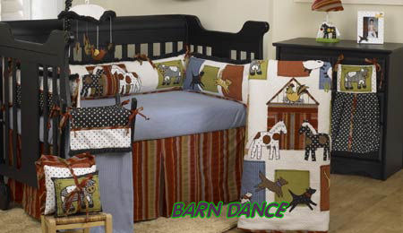horse baby crib bedding set nursery themes themed puppies ponies