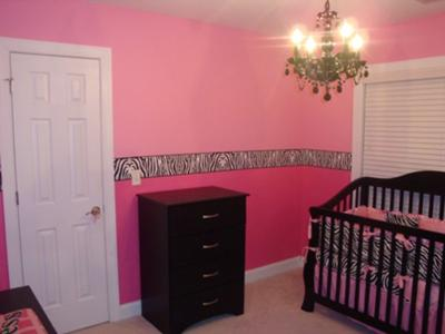 Hot Pink and Zebra Print Baby Girl Nursery - A Beautiful Black and