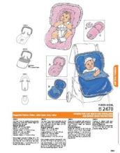 handmade homemade custom infant baby car seat cover pattern