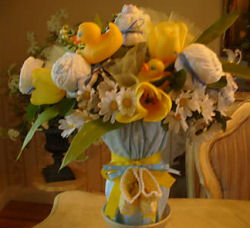 how to make a baby gift bouquet yellow rubber ducky