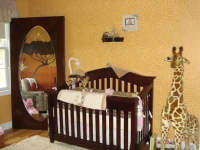 Leopard Print Wall Painting Technique.   Leopard Spots!   Wild Animal Print Wall Decor in our African Safari Theme Baby Nursery