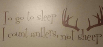 Deer hunting saying decal for a baby nursery wall