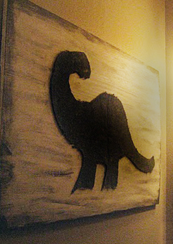 Dinosaur Baby Nursery Wall Art DIY Crafts Project