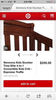 Simmons Kids Slumber Time Elite 4-in-1 Baby Crib