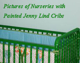 Jenny Lind crib painted green