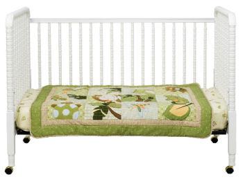 White wood Jenny Lind DaVinci baby crib