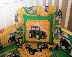 DIY handmade John Deere nursery décor made from Heartland fabrics