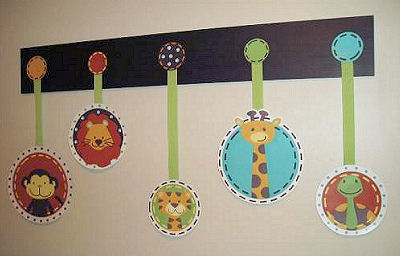 Jungle Tales Wall Decals in a Unique One of a Kind Wall Arrangement