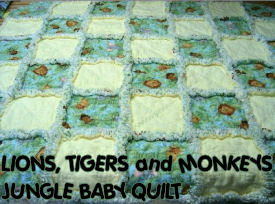 jungle baby quilt crib pattern panel block