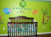 lime green tropical blue elephant jungle baby nursery pictures pics room ideas