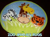 zoo animals safari monkeys giraffe lion tiger kids rug