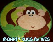 monkey monkeys kids childrens child rug