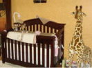 gender neutral leopard print giraffe safari jungle nursery animals wild zoo wall mural silhouettes painting technique gradient