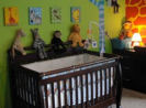 gender neutral colorful leopard zebra print giraffe safari jungle nursery animals wild zoo wall mural silhouettes painting technique pictures