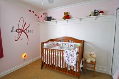 Katia's Crib and Ladybug Nursery Wall Decorations